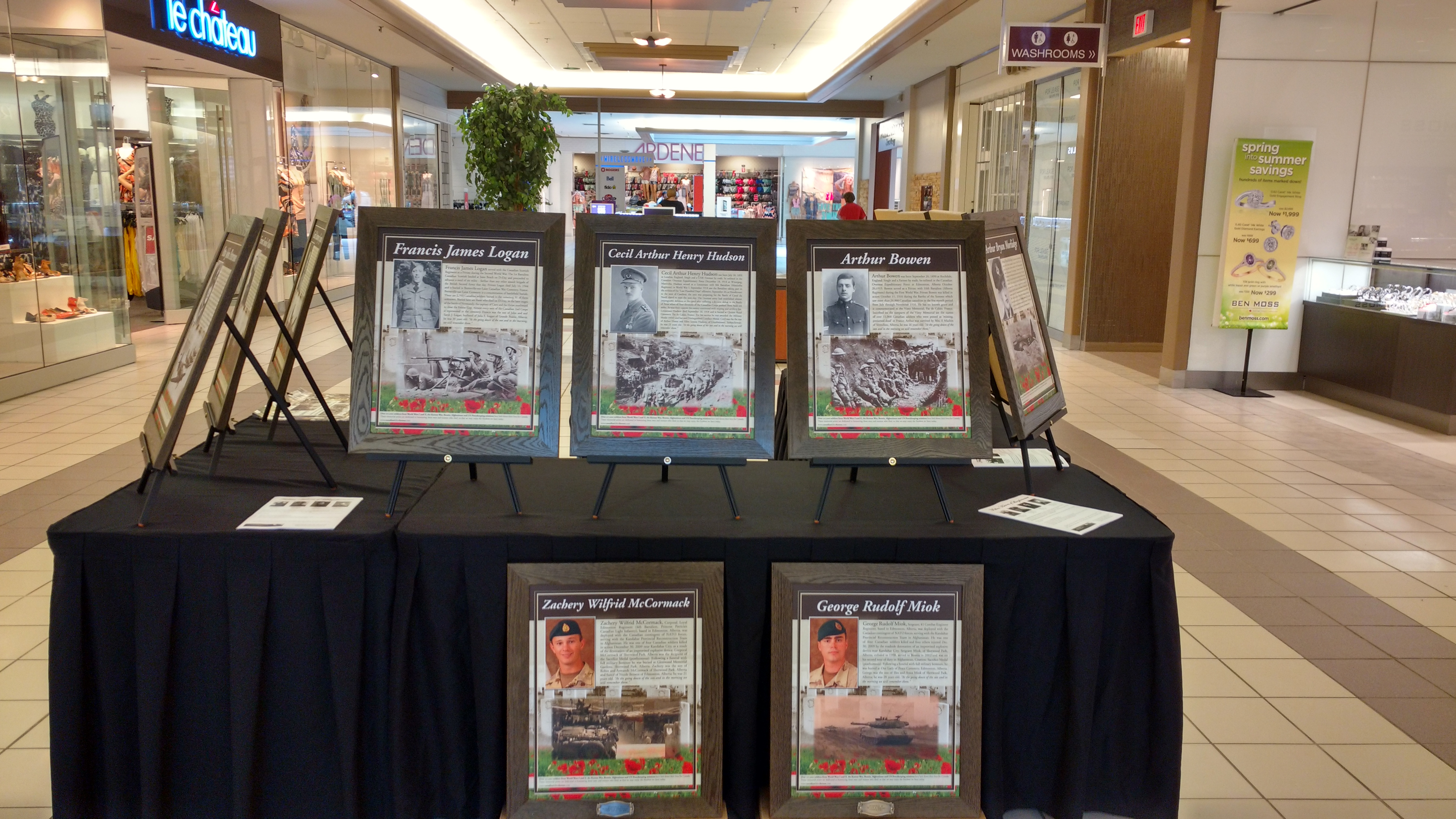 Remembrance In Action: Portrait Display at LloydMall, Lloydminster